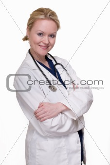Attractive lady doctor