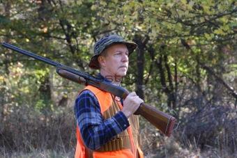 Man Hunting With A Shotgun