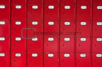 Red post office boxes