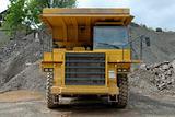 Big dumper truck in a stone pit
