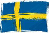 Grunge Sweden flag