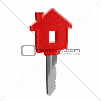 isolated key of dream house