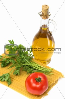 ollive oil spagetti  parsley