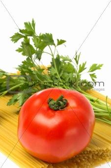 tomato  on pasta