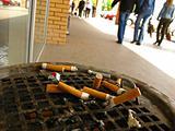 stubs of cigarettes