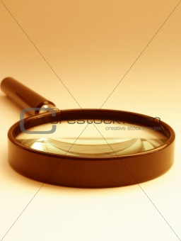 magnifying glass - sepia