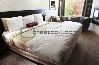 Bedroom with comfortable bed