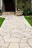 Natural stone path