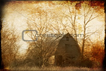 Old Homestead with Textured Treatment