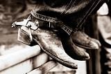 Cowboy Boots &amp; Spurs (BW)
