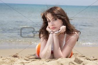 beautiful teen girl in swimwear
