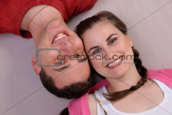 attractive affectionate young couple
