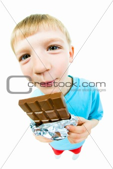 Eating chocolate