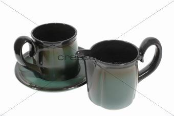 cup and milk jug