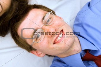 Portrait of young businessman with smile
