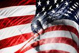 American Flag & Praying Hands