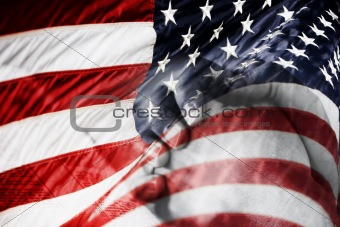American Flag & Praying Hands