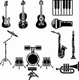 Musical Instrument Icon Set