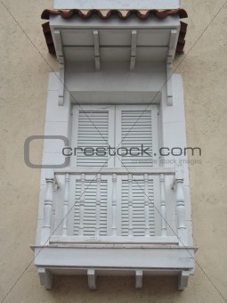 old house balcony