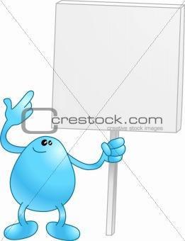 Beanie with a placard