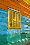 Exterior wall and window in La Boca Buenos Aires