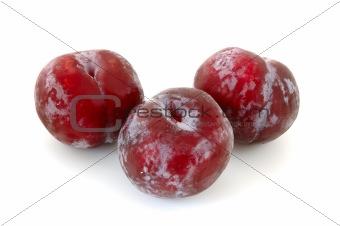 Three plums.
