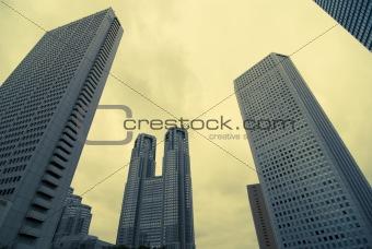 skyscrapers background