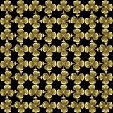 Black golden seamless shamrock tile