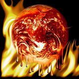 Burning earth fire