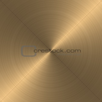 circular brushed gold