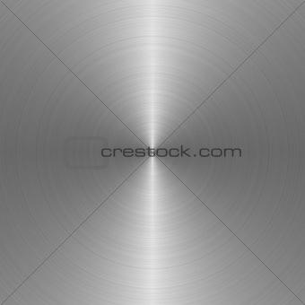 circular brushed steel