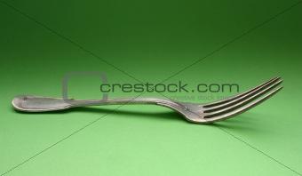 old silver fork