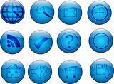 Glassy Reflective Web Buttons