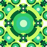 Psychedelic green pattern