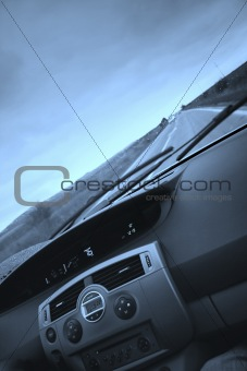 Car view from interior