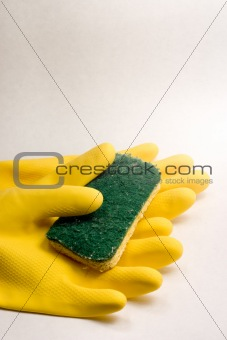 Cleaning Gloves and Sponge