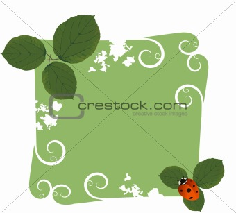 Beautiful Vector Spring Frame