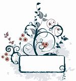 Beautiful Asian Floral Design Banner