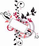 Fancy floral banner