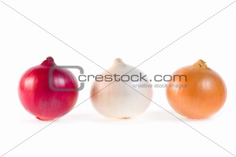 Three fresh onions