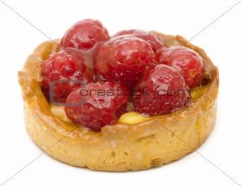 Delicious raspberry dessert cake
