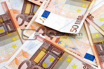 A fan of 50 Euro bank