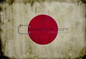 Grunge japanese flag