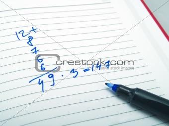 Calculation in an agenda