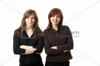 Young business women smiling