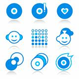 Music portal icons | BLUE series