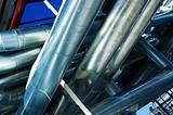 Industrial zone, Steel pipe-lines