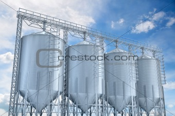 agricultural elevator building for corn storage