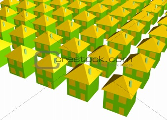Abstract Housing Buildings Background