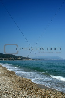 Beach on Aegean sea